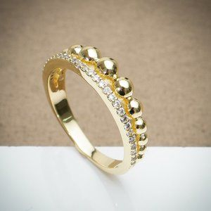 Gold Filled Cubic Zirconia Dainty Stacking Ring